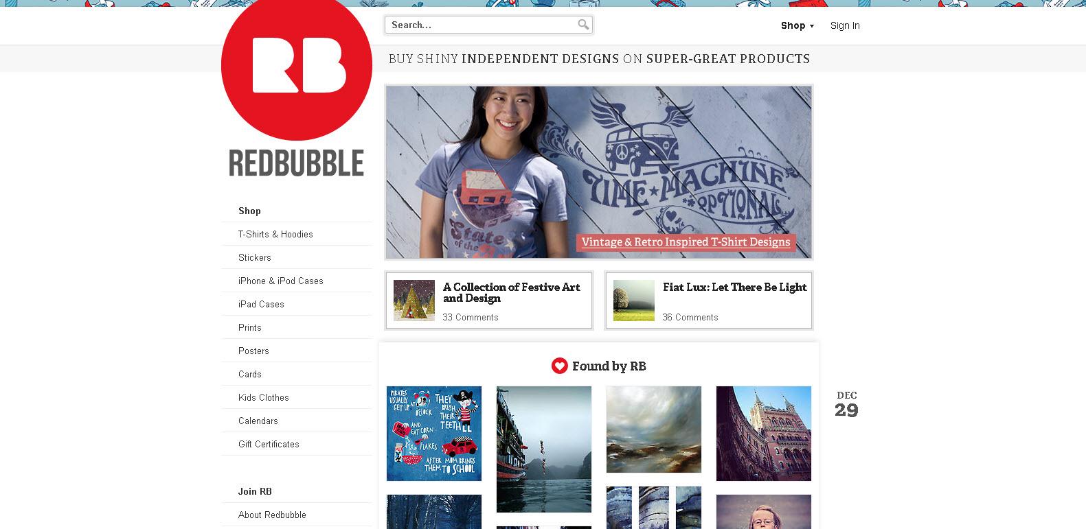 RedBubble - Désigns indépendants