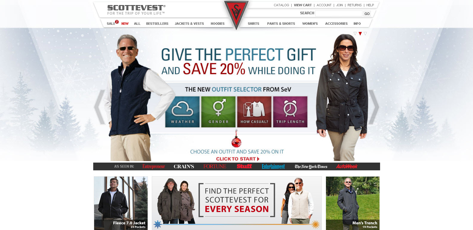 Scottevest - Vêtements pour le voyageur